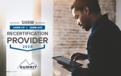 SummitET Achieves SHRM Recertification Provider Status