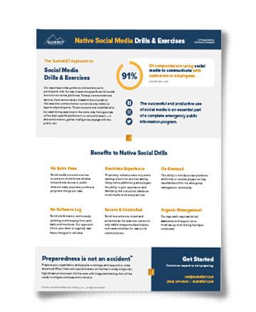 7 benefits of native social media drills fact sheet