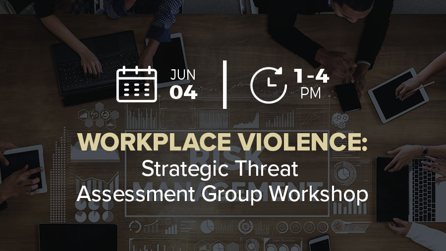 Workplace Violence: Strategic Threat Assessment Group Workshop for Orgs